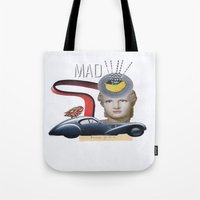 mad Tote Bags featuring mad by fromdelphine