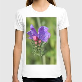 Viper's bugloss blue and pink flowers 2 T-shirt