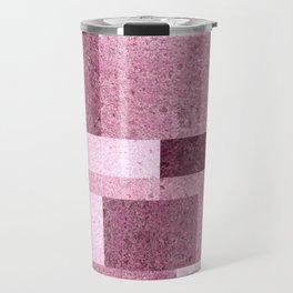 Pink Squared Travel Mug