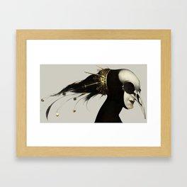 Pascal Funeral Mask Framed Art Print