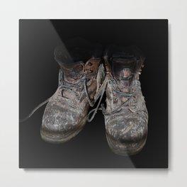old shoes on black Metal Print