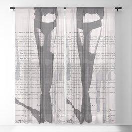 Lesson XXXI Sheer Curtain