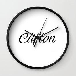 Name Clifton Wall Clock