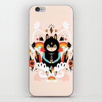 queen iPhone & iPod Skins featuring Rainbow Queen by Muxxi