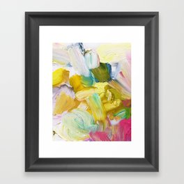 Lots of Feelings Abstract Painting Framed Art Print