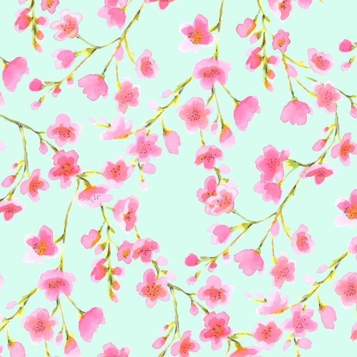 Cherry Blossom Pink Mint (for Mackenzie) Leggings