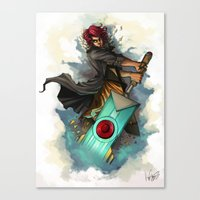 transistor Canvas Prints featuring Transistor by BeanyCoffee