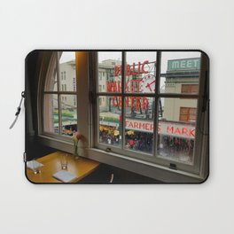 Dinner View of Pike Place Market Laptop Sleeve