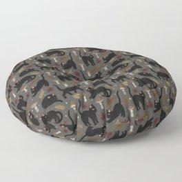 autumn cat magic Floor Pillow