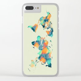 map world map 57 Clear iPhone Case