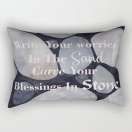 Carve Your Blessings in Stone Rectangular Pillow