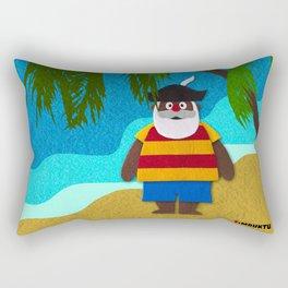 Funny Santa Claus! Rectangular Pillow