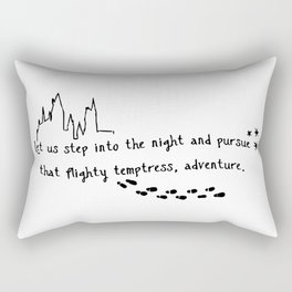 Step into the night Rectangular Pillow