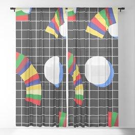 Memphis Grid & Rainbows Sheer Curtain