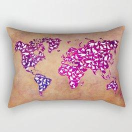 Cats world map Rectangular Pillow