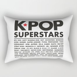 KPOP Superstars Original Boy Groups Merchandse Rectangular Pillow