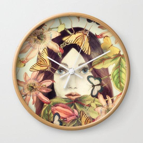 Whispers From A Secret Garden Wall Clock