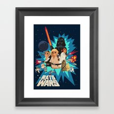 Star Wars FanArt: Rats Wars Framed Art Print