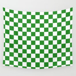 Checker (Forest Green/White) Wall Tapestry