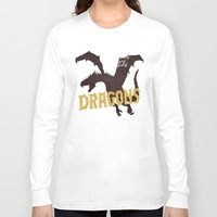 dungeons and dragons Long Sleeve T-shirts featuring Dragons by WEAREYAWN