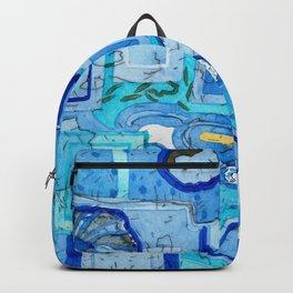 Blue Room with Blue Frames Backpack