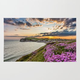 Freshwater Bay Sea Thrift Sunset Rug