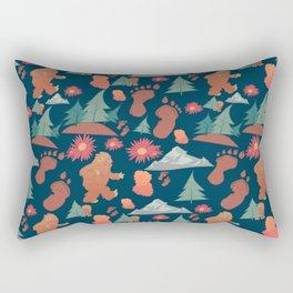 Sasquatch pattern Rectangular Pillow