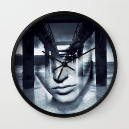 Bridge girl. Wall Clock