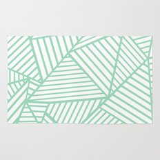 Abstract Lines Close Up Mint Rug