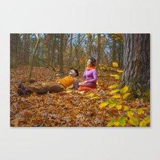 October Picnic Canvas Print
