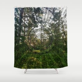 Spell of the forest fairies Shower Curtain