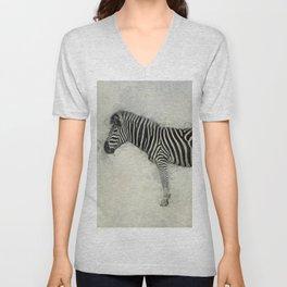 Zebra Art Unisex V-Neck