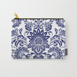 damask blue and white Carry-All Pouch