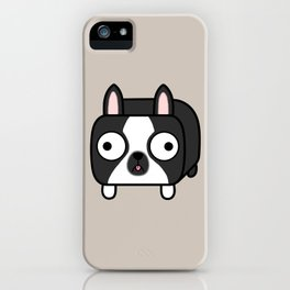 Boston Terrier Loaf - Black and White Dog iPhone Case