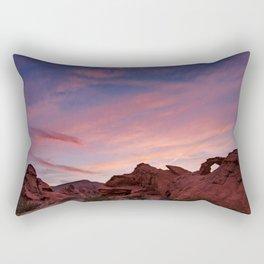 Arch Rock Sunset, Valley of Fire - I Rectangular Pillow