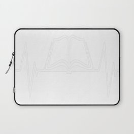 Book Reading Heartbeat Love Laptop Sleeve