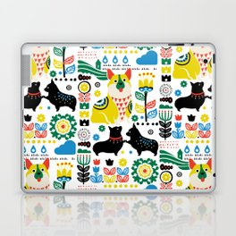 Scandinavian Corgi Laptop & iPad Skin