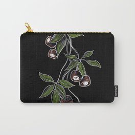 Botanical on Black Background Buckeye  Carry-All Pouch
