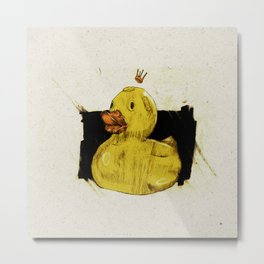 Rubber Ducking Metal Print