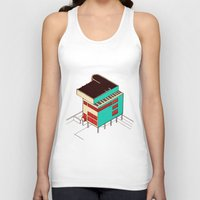 architecture Tank Tops featuring Music & Architecture by Roland Lefox