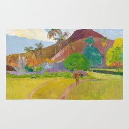 Tahitian Landscape by Paul Gauguin Rug