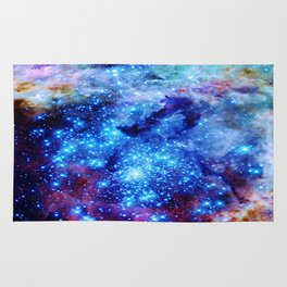galaxy blue sparkle Rug