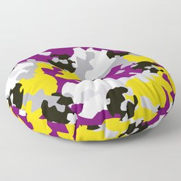 Purple and ochre camouflage Floor Pillow