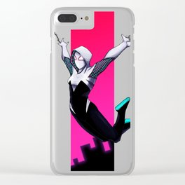 Swinging Through the Neon Twilight Clear iPhone Case