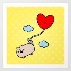 Kimmi's Love is 0n Cloud 9 Art Print