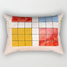 "Hilma af Klint ""The Ten Largest, No. 10, Old Age, Group IV"" Rectangular Pillow"