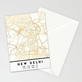 NEW DELHI INDIA CITY STREET MAP ART Stationery Cards