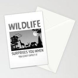 Wildlife Surprises You When You Least Expect It bw Stationery Cards