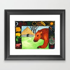 Earth Bear Healing Framed Art Print