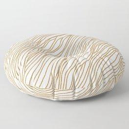 Metallic Wood Grain Floor Pillow